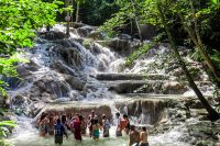 The Famous Dunn's River Falls in Jamaica